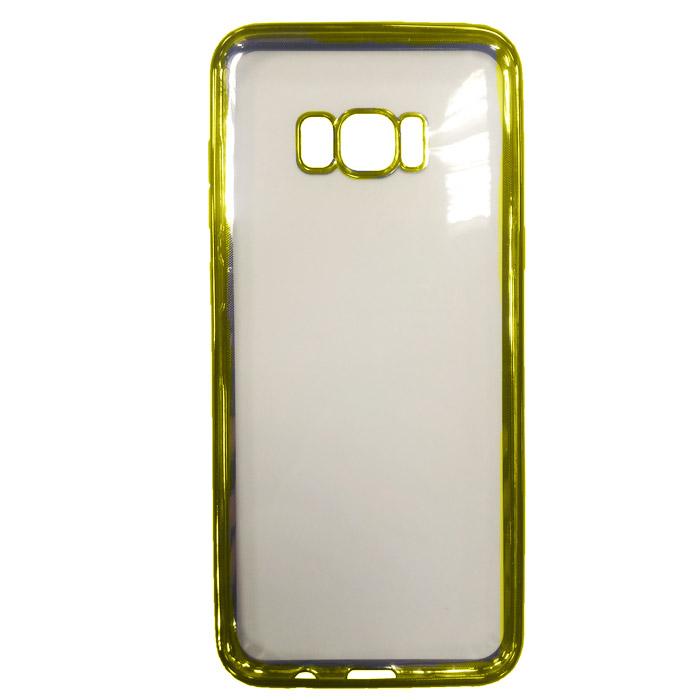 Чехол Gecko Силиконовая накладка для Samsung Galaxy S8+ SM-G955, золотистая рамка
