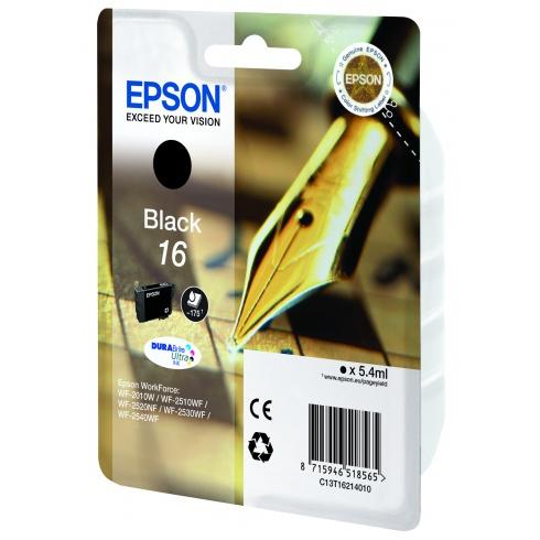 Картридж EPSON C13T16214010 Black для WF-2010W/2510WF/2520/2530/2540