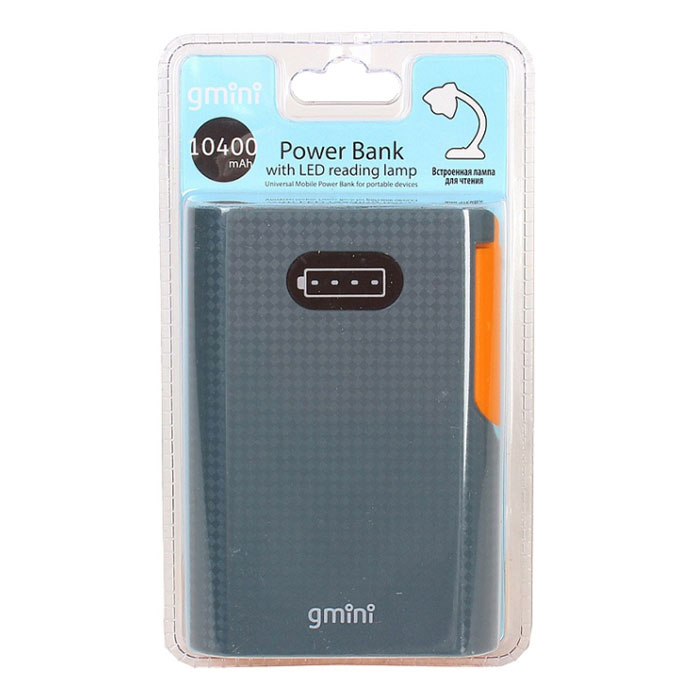 Внешний аккумулятор Gmini Reading Lamp Series GM-PB104L (10400mAh) Black/Orange