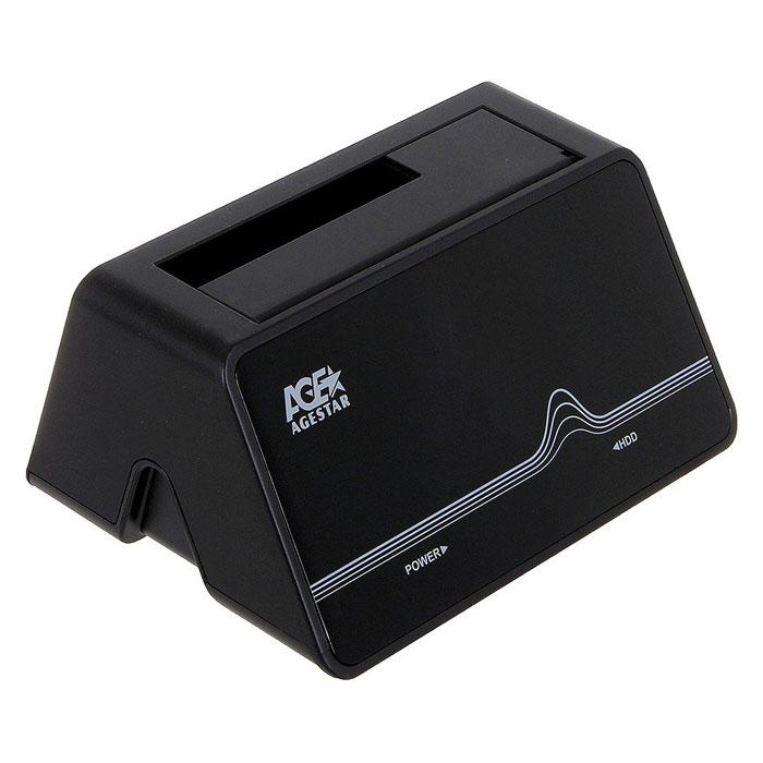 Док-станция для жестких дисков 2.5″ SATA-eSATA/USB3.0 AgeStar 3CBT4 Black