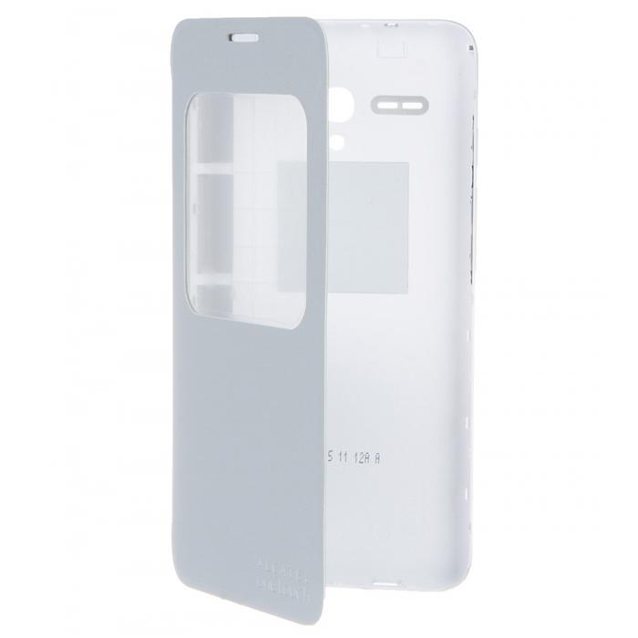Чехол Alcatel S-View для Alcatel One Touch 5054D Pop 3 (5.5), серебристый