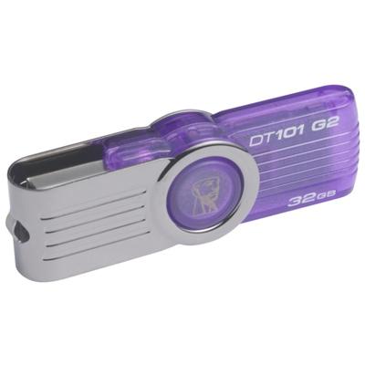 Флеш-диск 32Гб Kingston DataTraveler 101 G2 ( DT101G2/32GB ) USB 2.0 Фиолетовый
