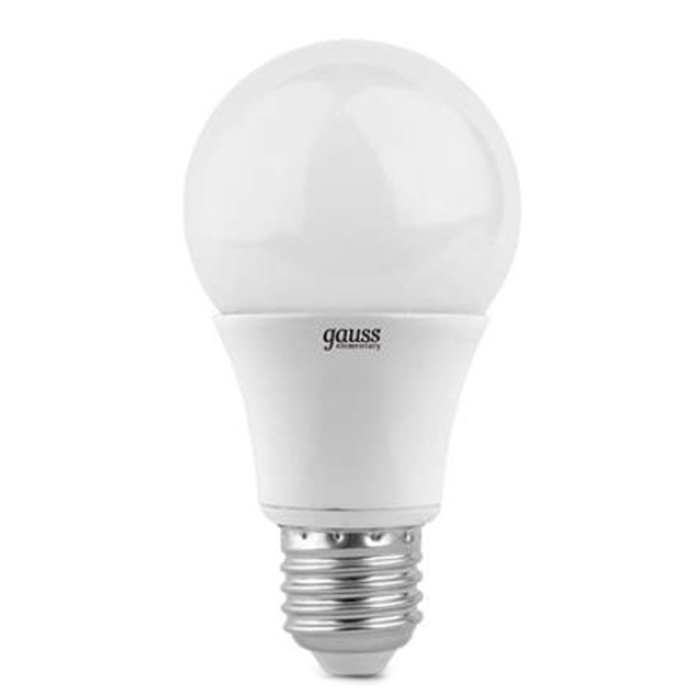 Светодиодная лампа Gauss Elementary A60 E27 10W 220V желтый свет