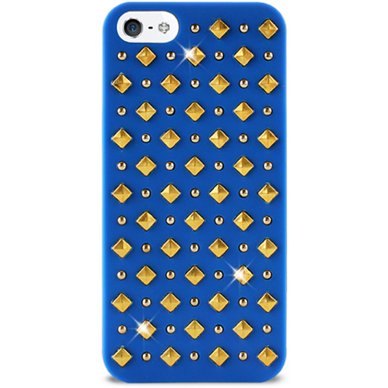 Чехол для iPhone 5 / iPhone 5S PURO Rock Round and Square Studs, синий (IPC5ROCK2Blue)