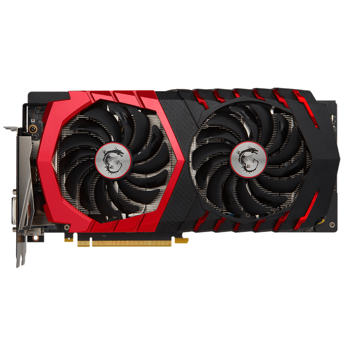 Видеокарта PCI-E MSI GeForce GTX 1060 6144Mb, Gaming X+ 6G GDDR5X Ret