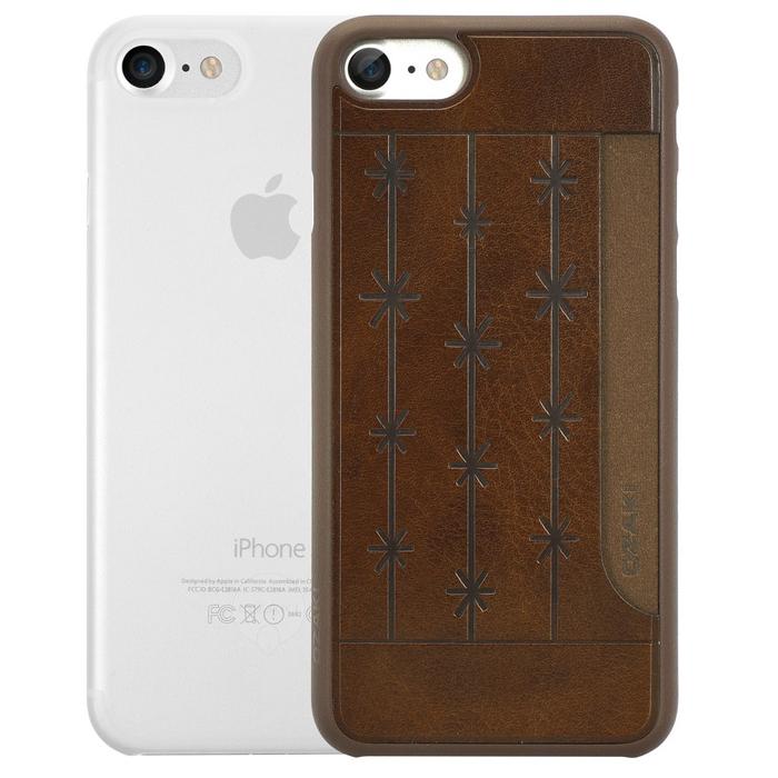 Чехол Ozaki O!coat 0.3 Jelly и O!coat 0.3 Pocket для iPhone 7, два чехла в наборе, прозрачный и коричневый