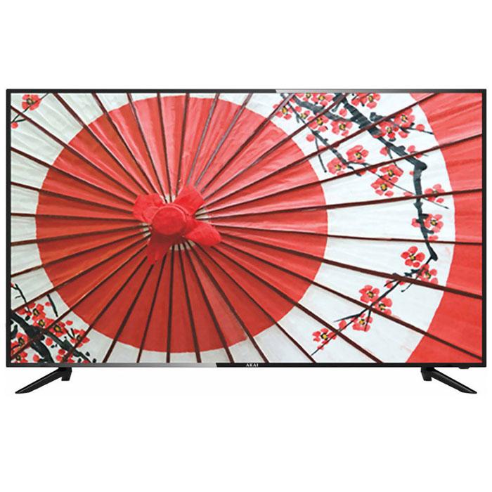 Телевизор ЖК 55″ Akai LEA-55V59P (UHD 3840×2160, USB, HDMI, VGA) черный