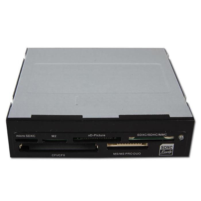 Ридер карт памяти внутренний Card Reader GiNZZU GR-126B 3.5″ Card Reader All in 1, SDXC, Черный