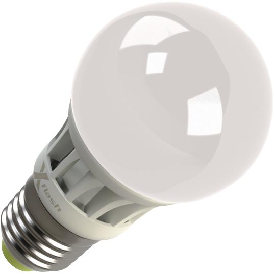 Светодиодная LED лампа X-flash Globe A55 E27 4W 220V белый свет