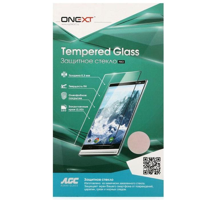 Защитное стекло Onext для Samsung Galaxy A7 (2017) SM-A720F, белая рамка
