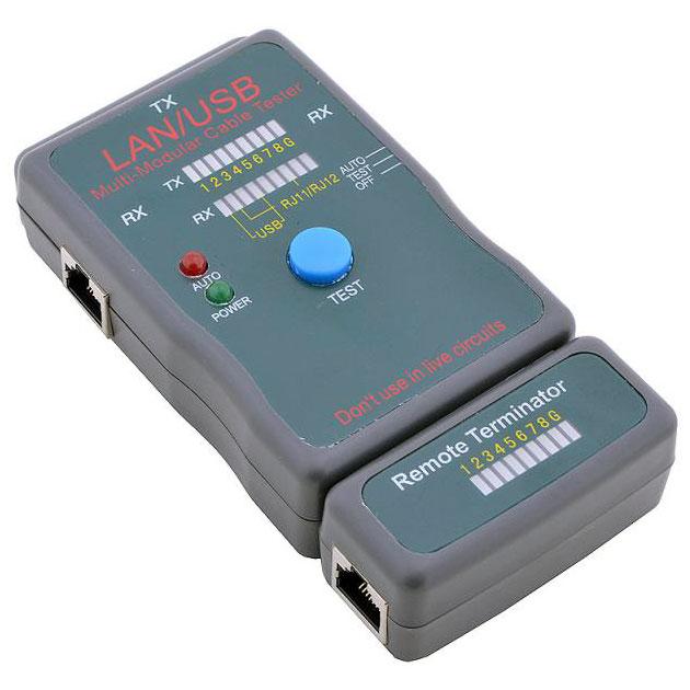 Тестер кабеля 5bites и его длины для UTP/STP RJ45, RJ11/12 ( LY-CT011 )