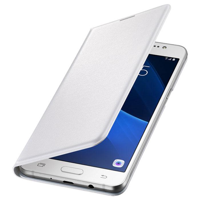 Чехол Samsung Flip Wallet для Galaxy J7 (2016) SM-J710FN, белый
