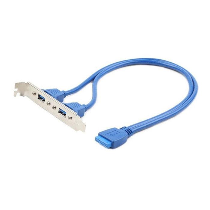 Планка в системный блок 2 USB 3.0 Gembird  ( CC-USB3-RECEPTACLE )