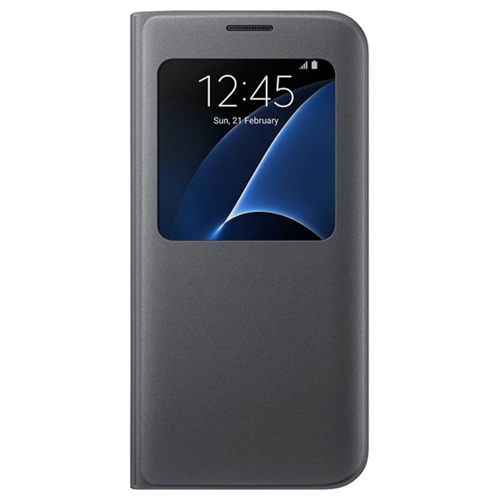 Чехол Samsung S View Cover для Samsung G935F Galaxy S7 edge, чёрный