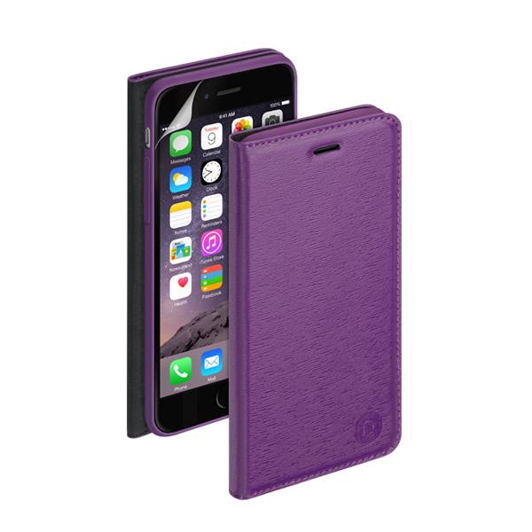 Чехол Deppa Wallet Cover PU с пленкой для iPhone 6 / iPhone 6s, фиолетовый