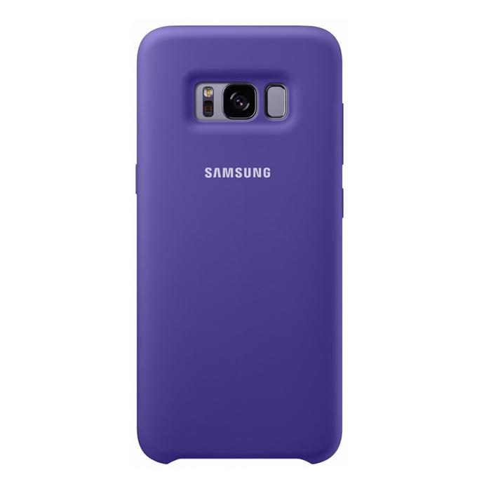 Чехол Samsung Silicone Clear для Samsung Galaxy S8+ SM-G955, фиолетовый