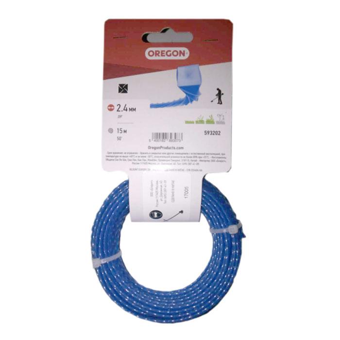 Леска для триммера OREGON Blue Square Twisted 2,4х15м