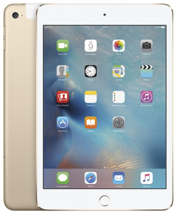 "Планшетный компьютер 7.9"" Apple iPad mini 4, 32Гб Flash, Cellular, Gold (MNWG2RU/A)"