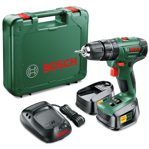 Аккумуляторная ударная дрель-шуруповерт Bosch PSB 1800 LI-2 1.5Ah x2 Case 06039A3321