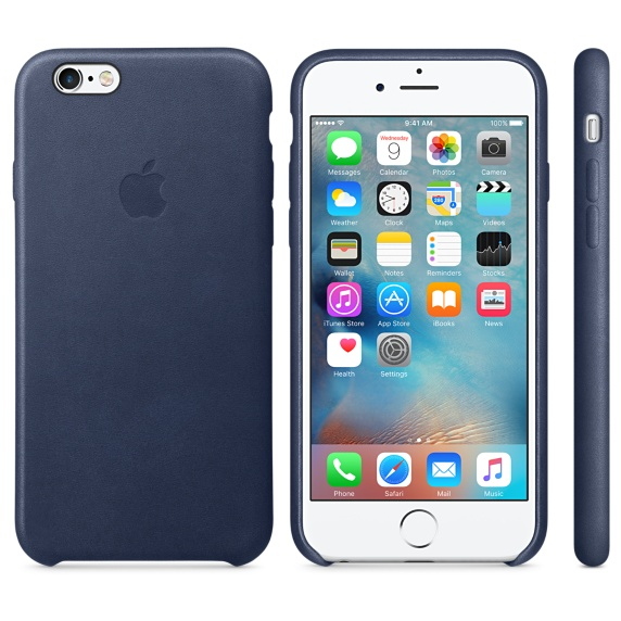 Чехол для Apple iPhone 6 / iPhone 6s Leather Case Midnight Blue MKXU2ZM/A