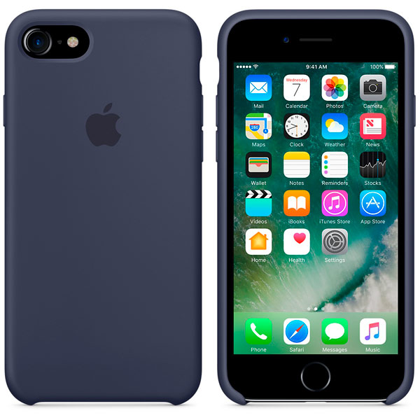 Чехол для Apple iPhone 7 Silicone Case Midnight Blue MMWK2ZM/A