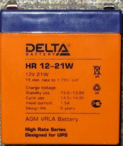 Батарея Delta HR 12-21W (12V 5Ah)