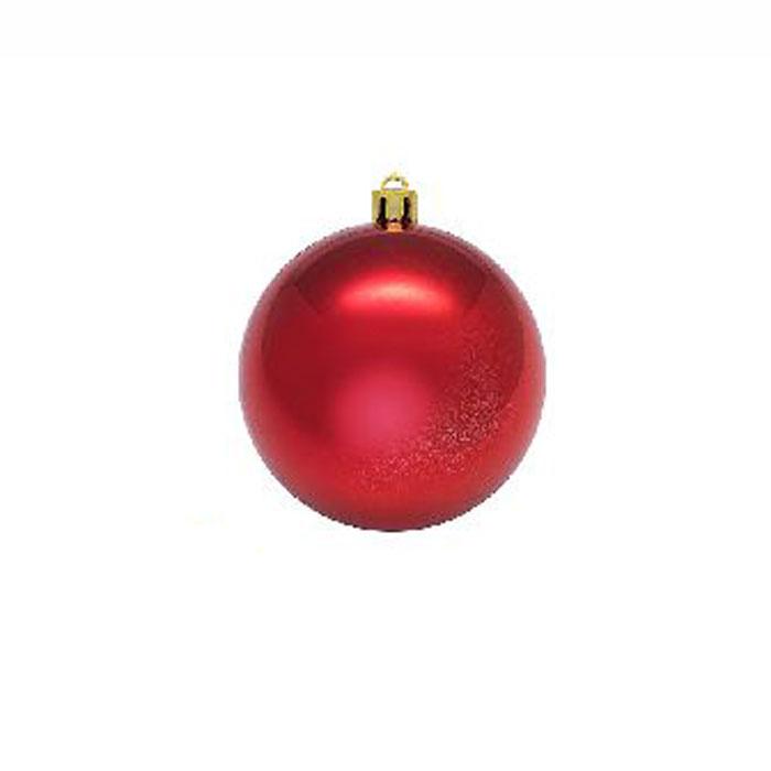 Нов игрушка шар пластик блест.d=8см  6шт в пакете красный