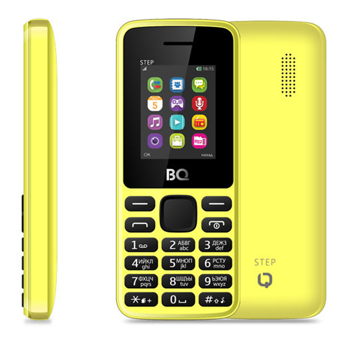 Сотовый телефон BQ Mobile BQM-1830 Step Yellow