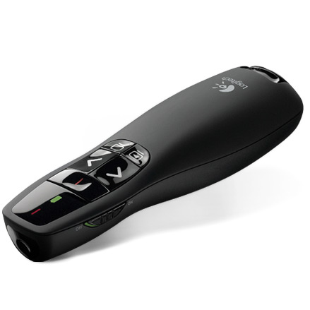 Презентер Logitech R400 Presenter USB Black ( 910-001357 ) беспроводной