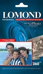 Фотобумага 10×15 Lomond 260г/м2 20л, белый полуглянцевое для струйной печати ( 1103302 )