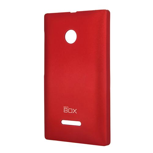 Чехол SkinBox 4People для Nokia Lumia 435Lumia 532, красный
