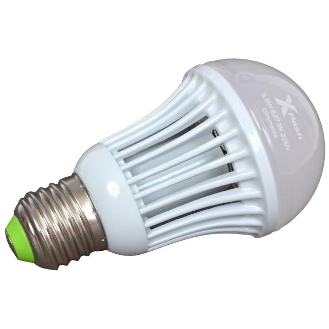 Светодиодная LED лампа X-flash Bulb E27 5.5W 220V желтый свет, диммируаемая