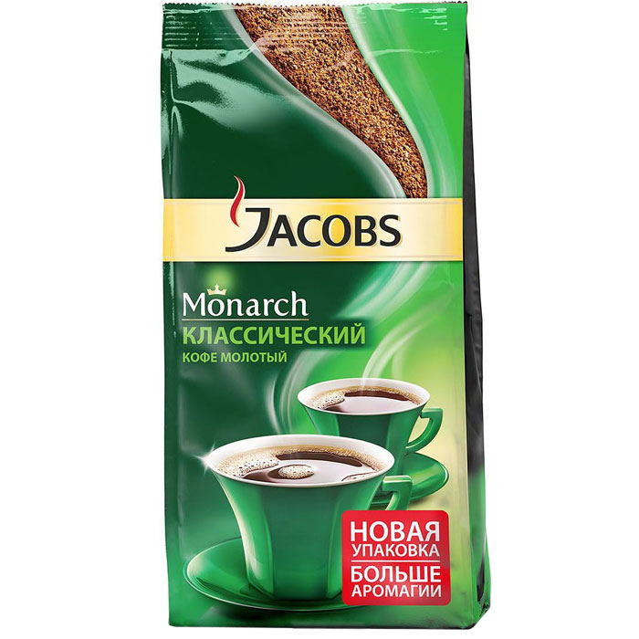 Кофе молотый Jacobs Monarch классик 230 гр