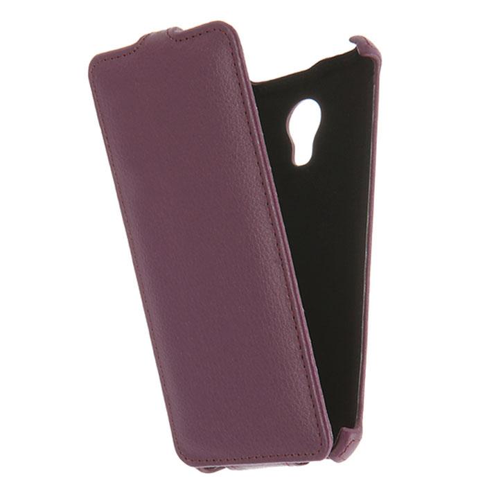 Чехол Gecko Flip для Meizu M3s Mini, фиолетовый