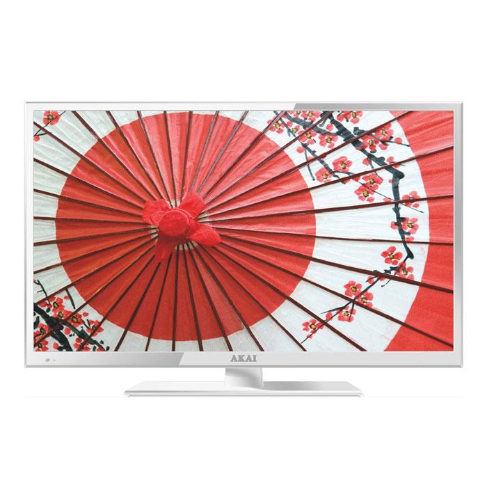 Телевизор ЖК 24″ Akai LEA-24V61W (Full HD 1920×1080, USB, HDMI, VGA) белый