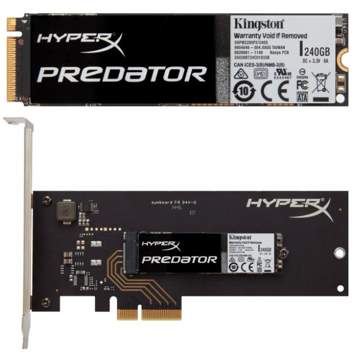 Накопитель SSD PCI-E/M.2 240Гб Kingston Predator ( SHPM2280P2H/240G )