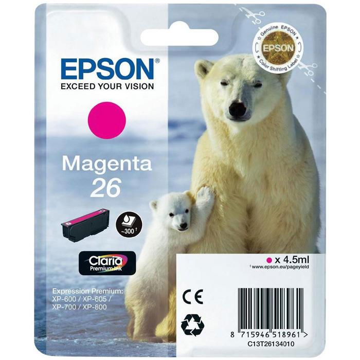 Картридж EPSON C13T26134010 Magenta для XP-600/605/700/800