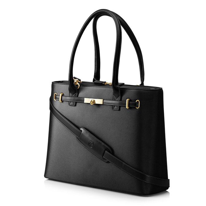 Сумка для ноутбука 15.6″ HP Premium Milano Black Case, T7B38AA#ABB, черная, эко-кожа
