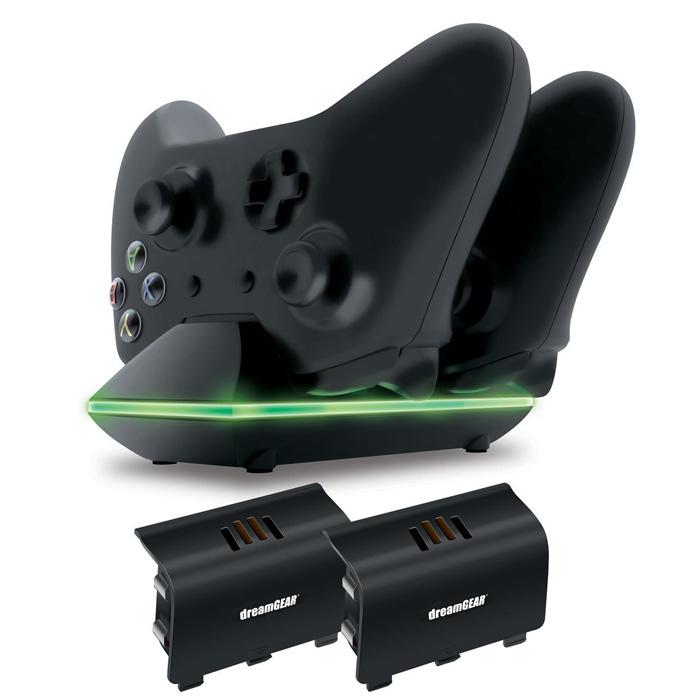 Зарядная станция для 2-х геймпадов XBox One DreamGear ( DGXB1-6603 ) 2xUSB Black