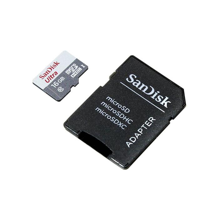Флеш-карта microSDHC 16Гб Sandisk Ultra , Class 10/UHS-1 ( SDSQUNB-016G-GN3MA )