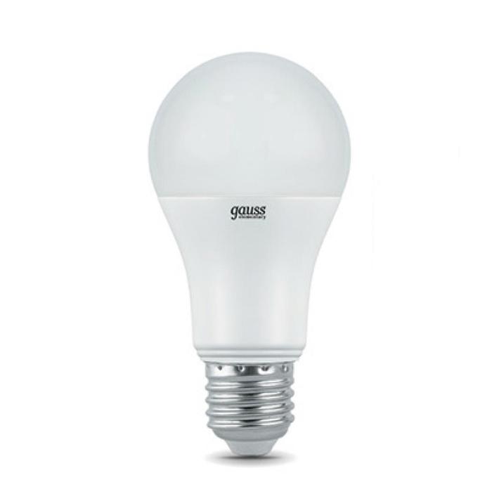 Светодиодная лампа Gauss Elementary A60 E27 20W 220V холодный свет