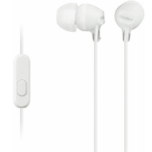 Гарнитура Sony MDR-EX15APW белая