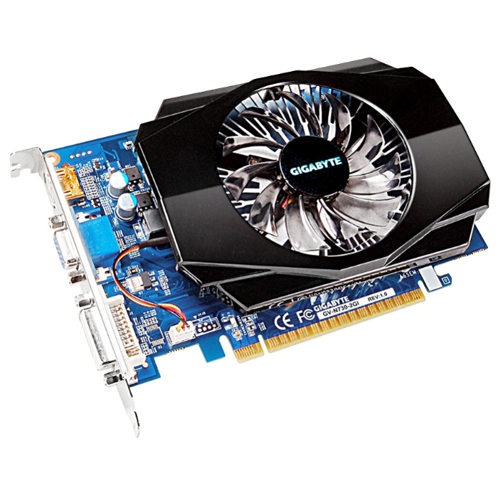 Видеокарта PCI-E GIGABYTE GeForce GT 730 2048Mb, DDR3 ( GV-N730-2GI )