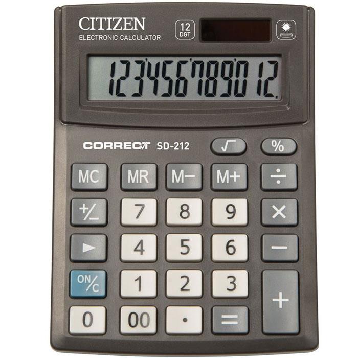 Калькулятор Citizen Correct SD-212, 12 разрядов