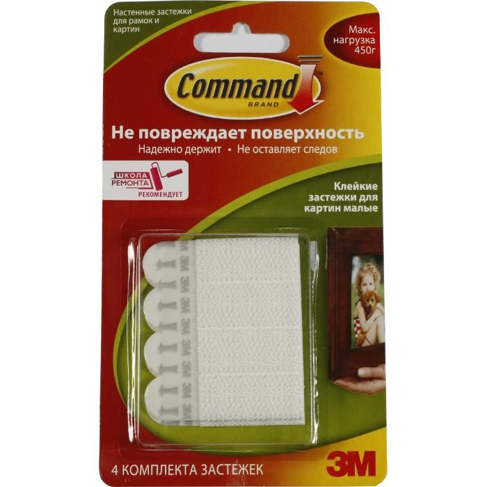 Command 17202 легкоудаляемый настен. застежки д/ рамок картин. мал. до 450г, 4шт