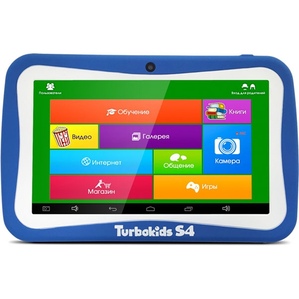 Планшетный компьютер 7″ детский TurboPad TurboKids S4 Cortex A9 1,3GHz/512Gb/8Gb/7″ 1024*600/WiFi/Android 4.4.4/синий
