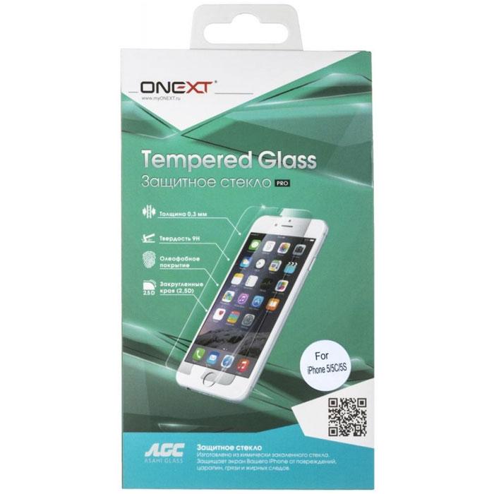 Защитное стекло Onext для iPhone 5/iPhone 5c/iPhone 5s антибликовое