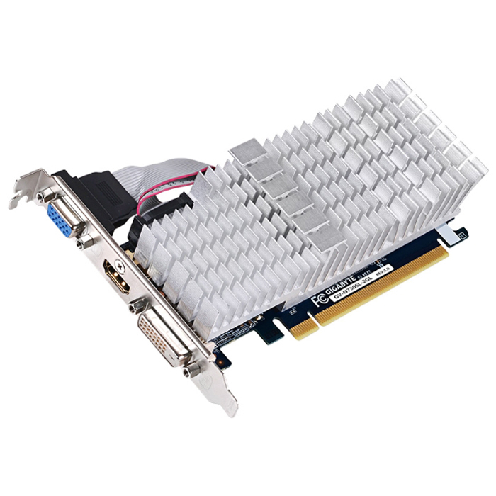 Видеокарта PCI-E GIGABYTE GeForce GT 730 2048Mb, DDR3 ( GV-N730SL-2GL )