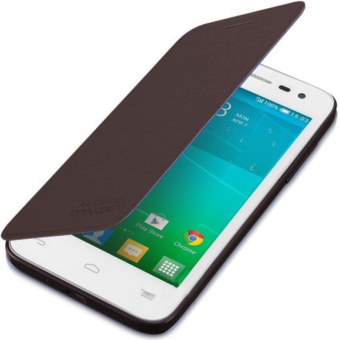 Чехол Alcatel Flip-case для Alcatel One Touch POP S3 5050X/Y, шоколадный