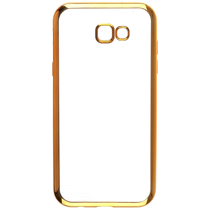 Чехол skinBOX silicone chrome border case для Samsung Galaxy A7 (2017) SM-A720F, золотистый